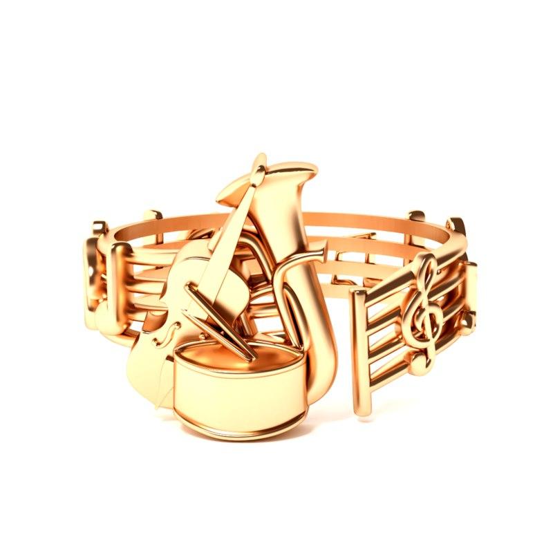 3D music ring