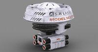 3D s r laser drone model