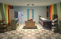 shop interior 3D model