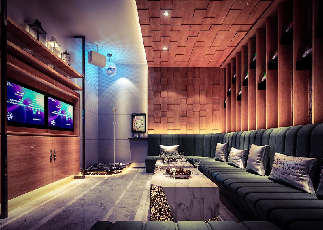 interior sing drink 3D model