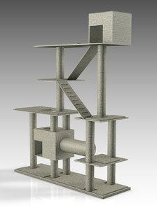 3D cat tree model