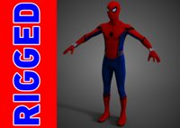 spider man mcu 3D model