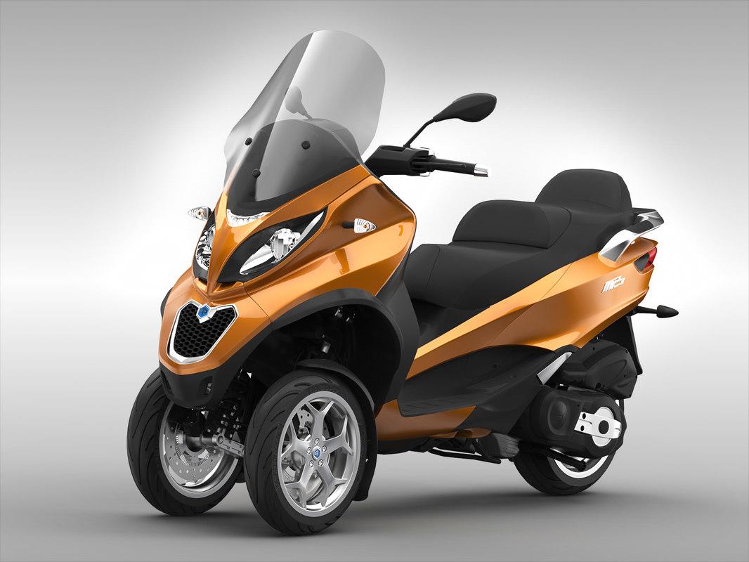 piaggio scooter 3D