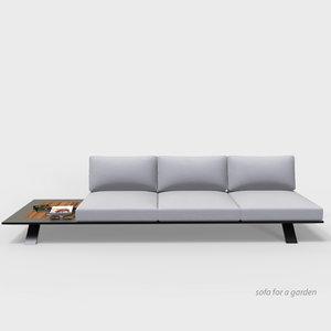 3D model sofa garden