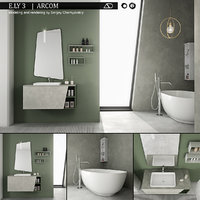 3D bathroom furniture set arcom model