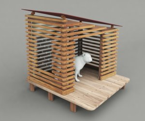 dog house project - 3D model