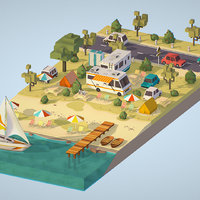3D isometric illustrate