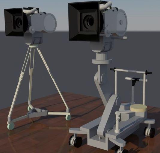 3D professional movie camera model
