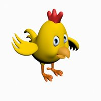 3D chiken cartoon