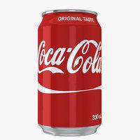 3D coca cola drink