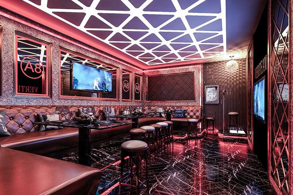 3D interior karaoke bar model