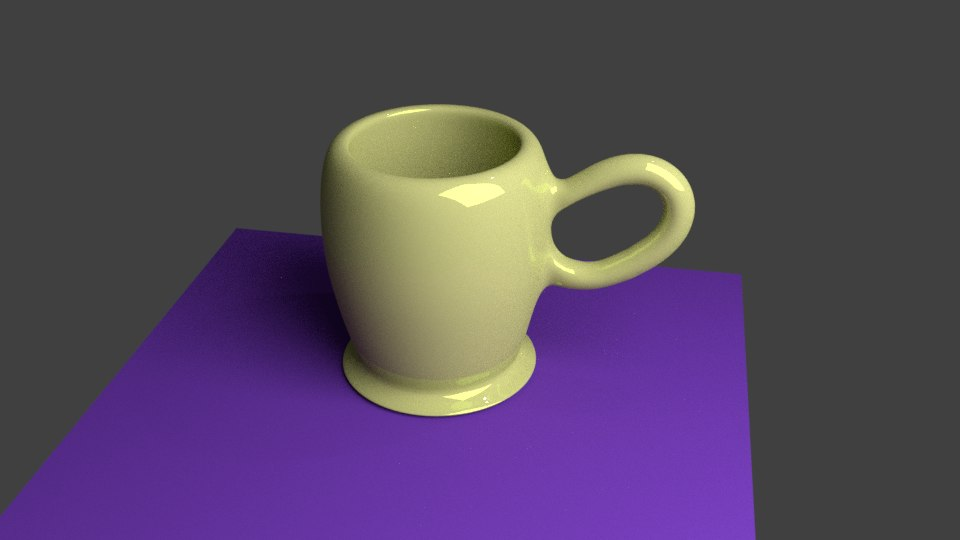 yellow cup 3D model