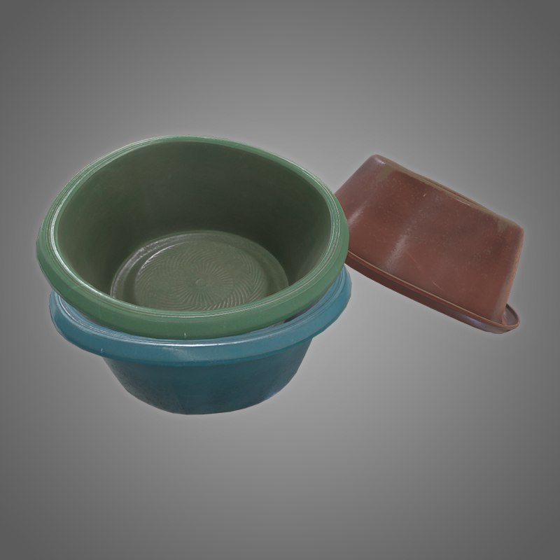 3D plastic wash basin -