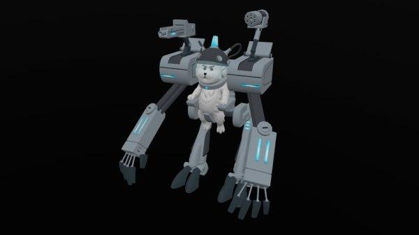 dog robot 3D model