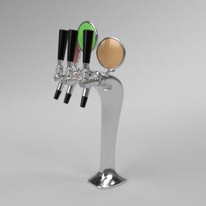 3D interior beer tower cobra model