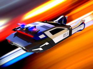 3D spiner police car model