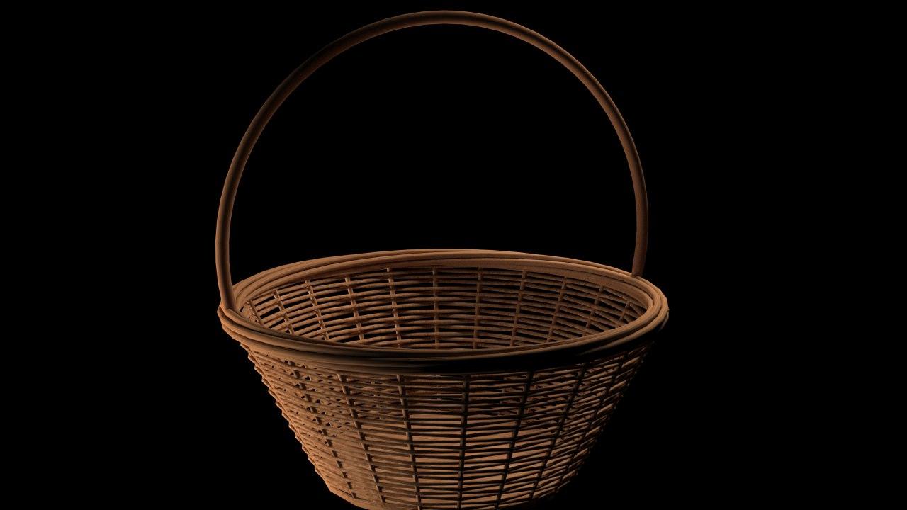 fruit basket ready 3D model