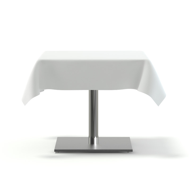 3D metal table tablecloth