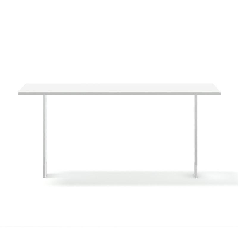 white rectangular table 3D model