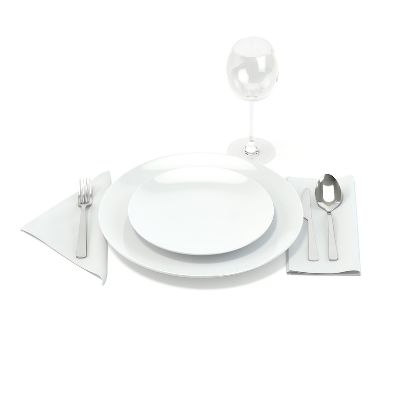 3D tableware set