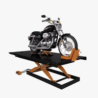 Motorcycle Lift with Bike