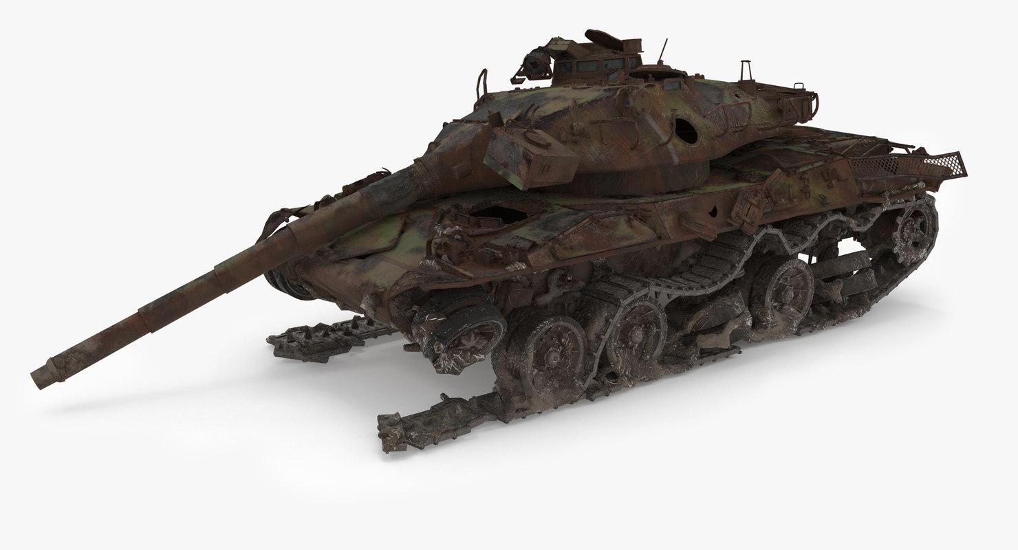 tank 30b wreck 3D model