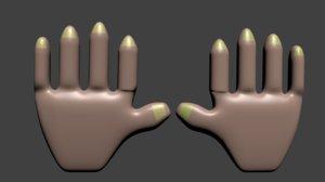 hands 3D model