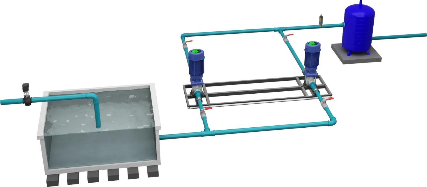 pressurization pumps water 3D model