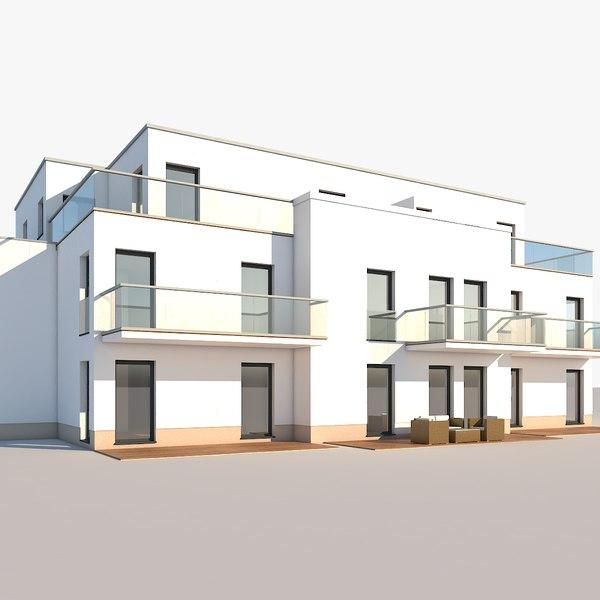 3D model apartment house