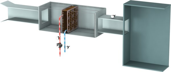 3D cooling coil garbage room