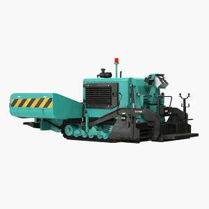 3D asphalt paving machine rigged