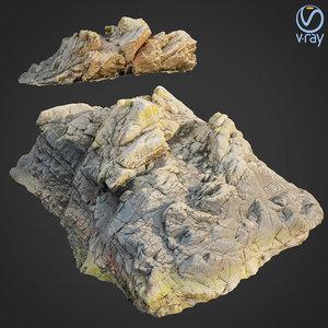 scanned rock cliff e2 3D
