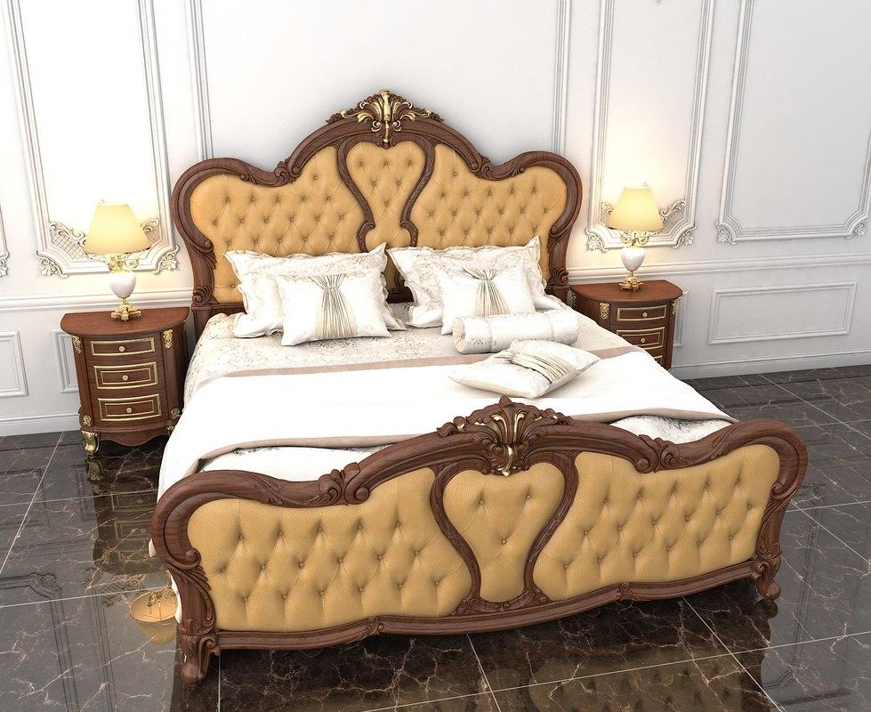 3D bedroom bed luxury