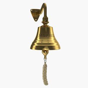 3D bronze ship bell model