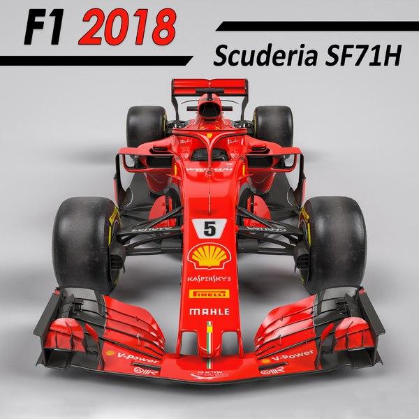2018 scuderia sf71h 3D