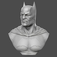 realistic batman bust 3D model