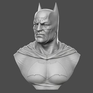 realistic batman bust 3D model