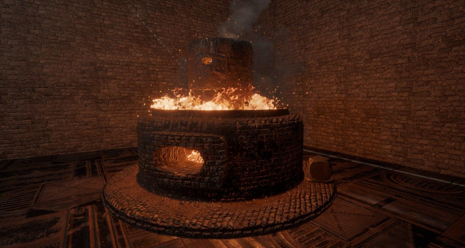 3D model forge anvil combo hd