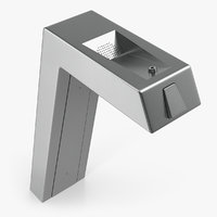 drinking fountain steel pedestal 3D model