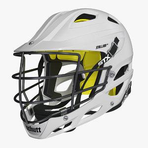 lacrosse helmet 3D