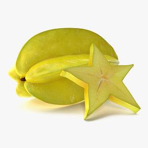 3D star fruit set