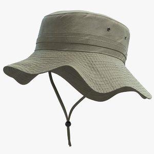 fishing hat model