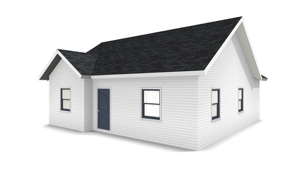 3D model bungalow house