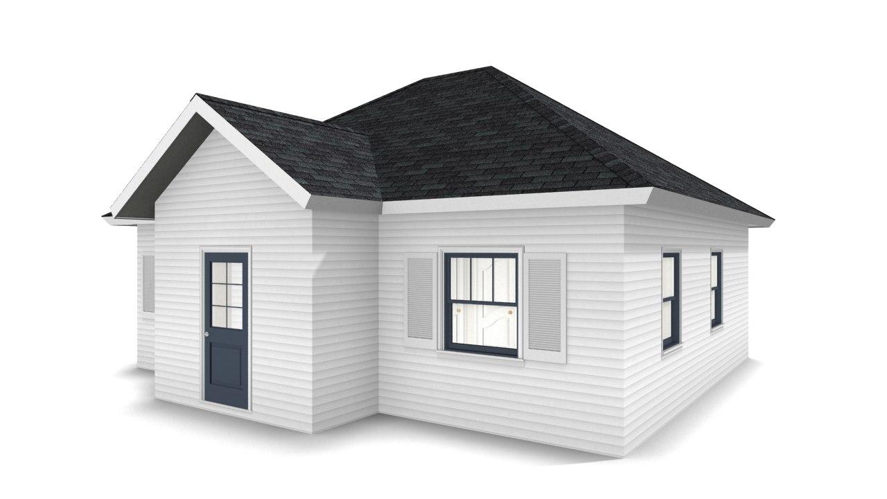 3D bungalow house model