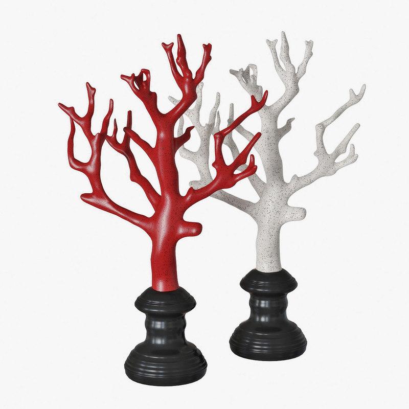 3D coral statuette