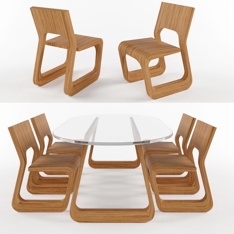 steek table chair artisan 3D model