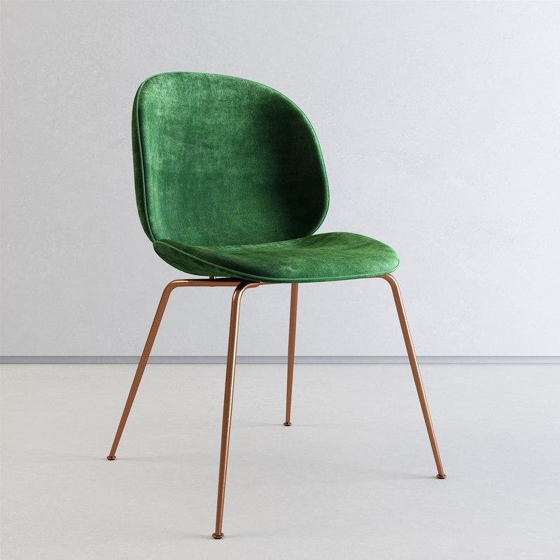 3D model gubi chair beetle