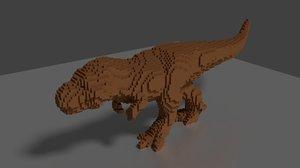 lego trex 3D model