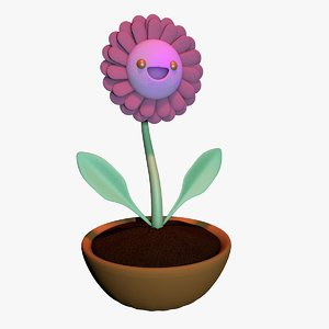 happy flower 3D