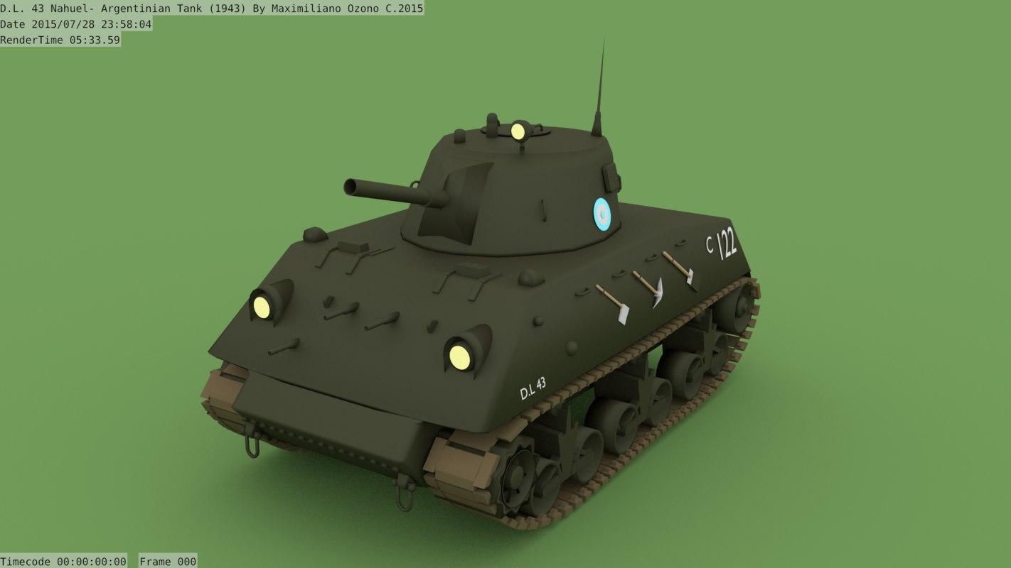 3D wwii tank argentina